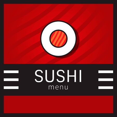 roll bar: Cover menu for sushi bar with a roll