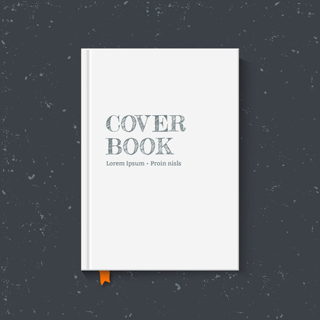 Cover book for your design. Vector illustration Ilustracja
