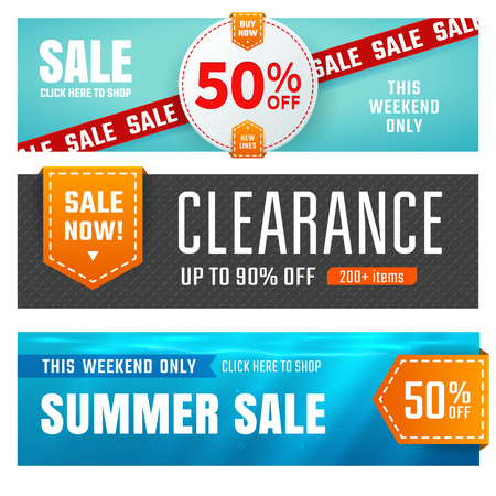 sale sticker: Set of sale banners design. Vector illustration Illustration