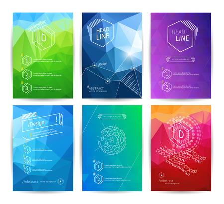 Set of poster design templates