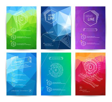 Set van poster design templates Stock Illustratie