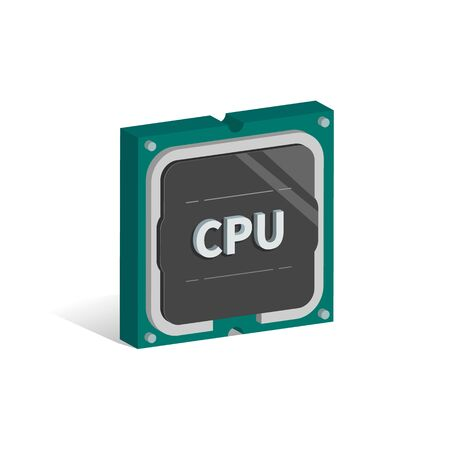 Computer chip vector illustration