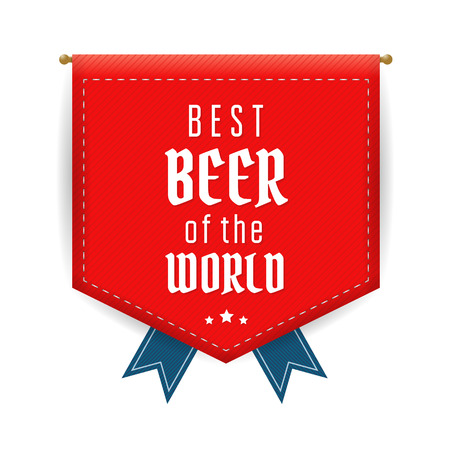 Best beer red pennant or flag. Vector  illustration Illustration
