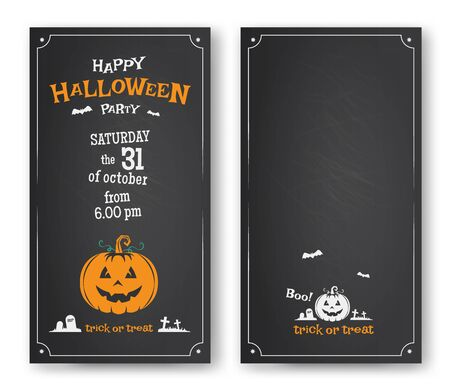 invitacion fiesta: Diseño feliz de tarjeta de invitación de la fiesta de Halloween. Ilustración vectorial
