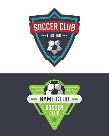 soccer club: Soccer club logo template. Vector sport emblem Illustration