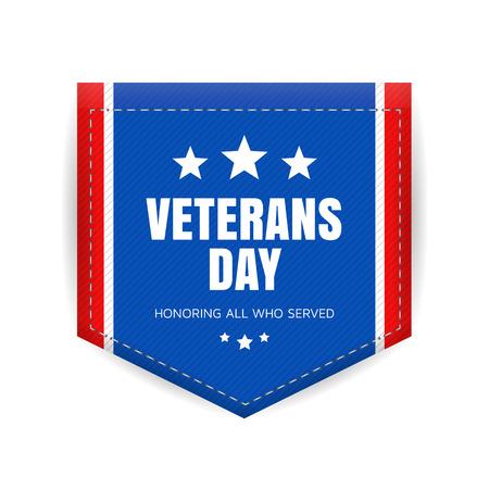 veterans day: Veterans day banner or badge. Vector illustration.