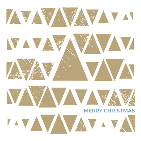 greeting stylized: Merry Christmas stylized greeting card design. Vector