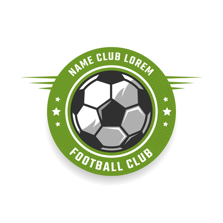 soccer club: Soccer club icon template. Vector sport emblem