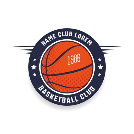 baloncesto: club de baloncesto plantilla de icono. Emblema del equipo de baloncesto. Vector