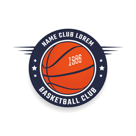 Basketball club icon template. Emblem of the basketball team. Vector