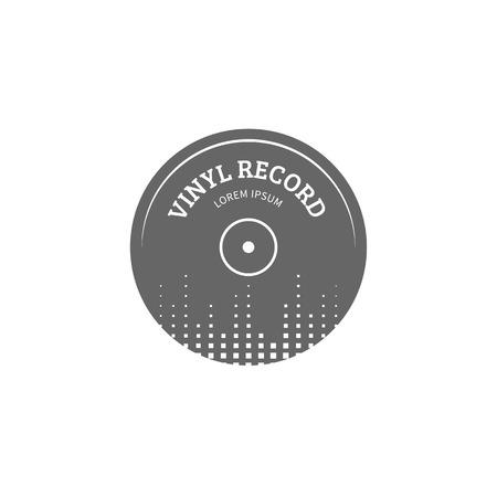 logo music: Vinyl record logo template. music icon or emblem.
