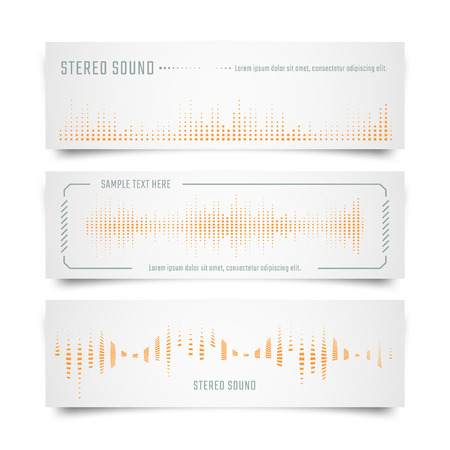 soundwave: Music banners with soundwave and equalizer shape.