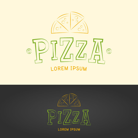 pizzeria: Pizza vector logo template for Pizzeria Restaurant Cafe.
