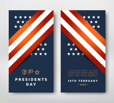 presidential: Presidents Day greeting card template. Vector illustration Illustration