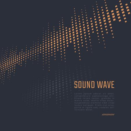 sonido: Fondo del equalizador. Cartel de la música. Onda de sonido