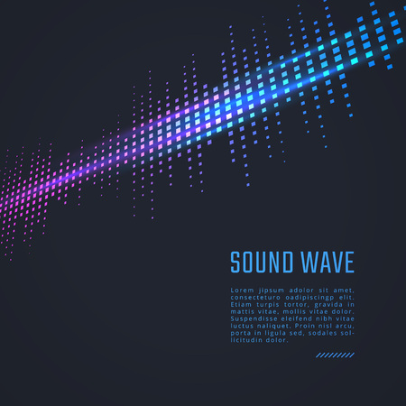 Vector equalizer background. Music poster. Sound wave Ilustração
