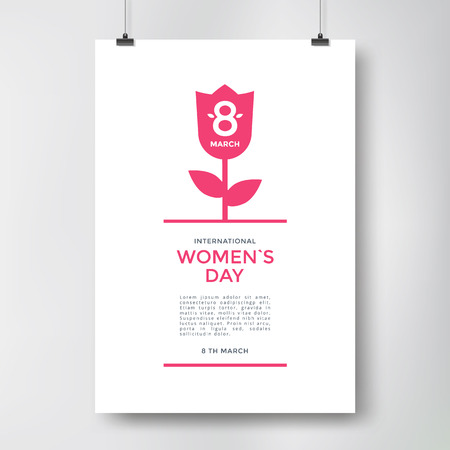 young womens: International Womens Day greeting poster. Vector illustration Illustration