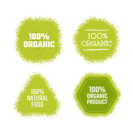 lime: Organic product green label. Vector texture sticker