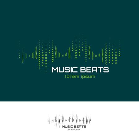 audio wave: Music beats design template. Sound or audio wave