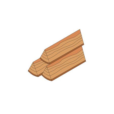 vecotr: Firewood stack isometric icon. Vecotr illustration isolated Illustration