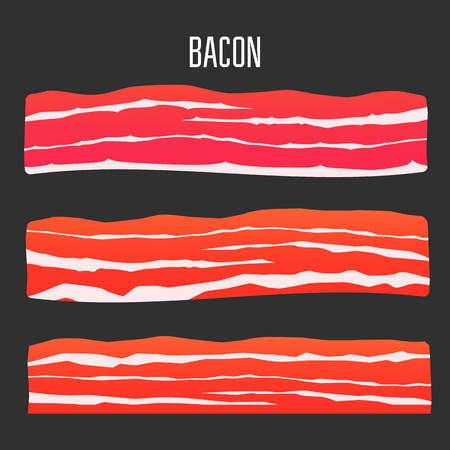 grease: Three different sliced bacon.