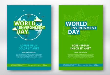 World environment day poster design template. Illustration