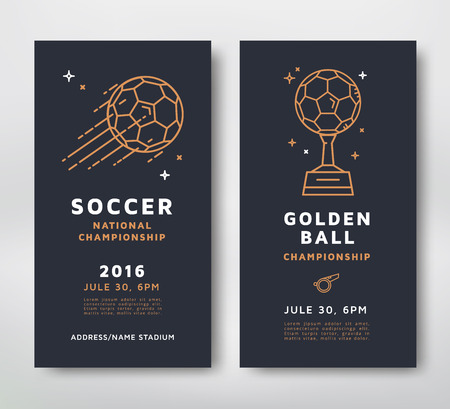 championships: Soccer championship posters design.