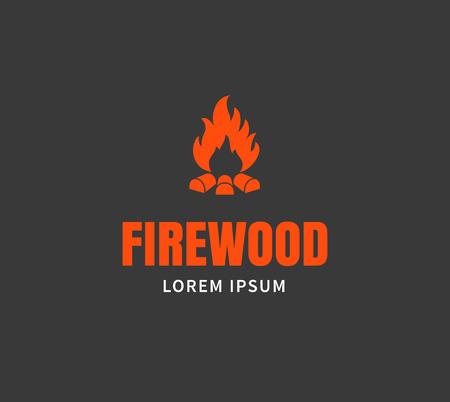brand activity: Firewood emblem or template.