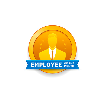 Employee of the month label design