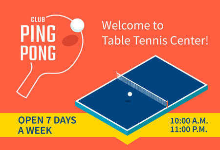 Table tennis center banner design
