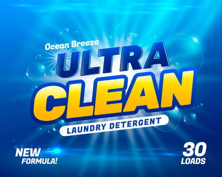 Package design template for laundry detergent. illustration