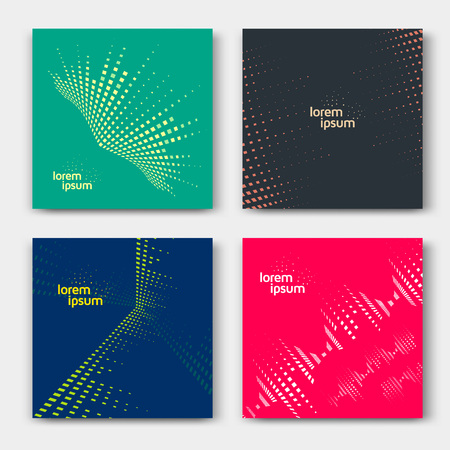 graphic backgrounds: Abstract cards with line graphic equalizer. Music backgrounds. Illustration