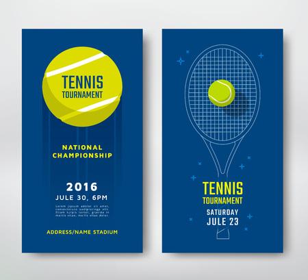 테니스 선수권 대회 또는 대회 포스터 디자인. 벡터 일러스트 레이 션