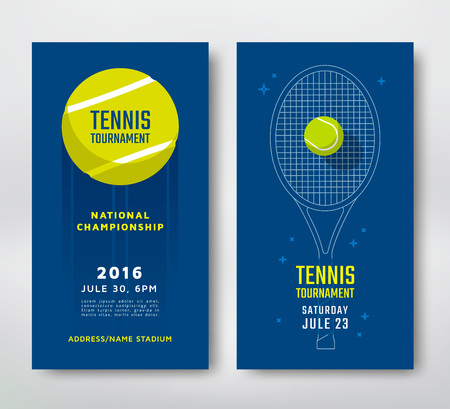 Tennis-Meisterschaft oder Turnier-Plakatentwurf. Vektor-Illustration Vektorgrafik