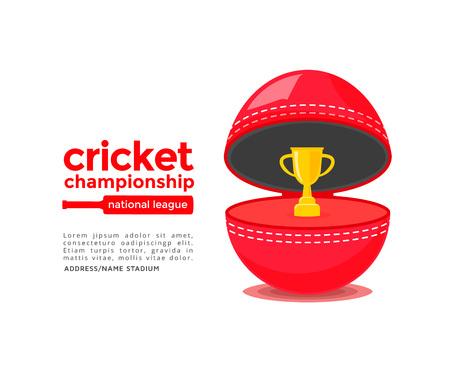 cricket stump: Cricket championship poster
