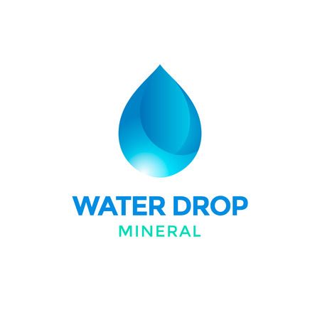 waterdrop: Water drop logo Illustration