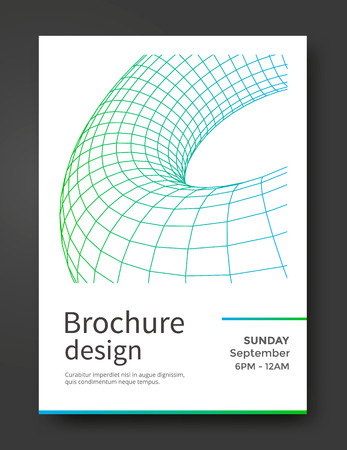 paper folding: Abstract brochure template
