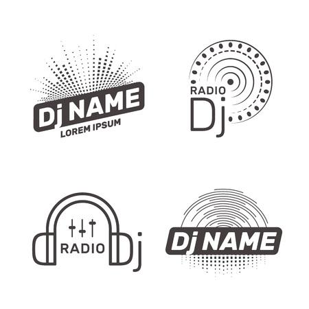 DJ vector label 일러스트