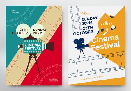 Cartel del festival del cine Foto de archivo - 73400958