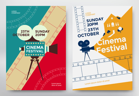 Cinema festival poster Stock Illustratie