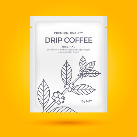 Packaging design pour le café Banque d'images - 73397741