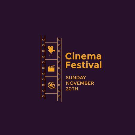 Cinema festival emblem Banco de Imagens - 75812427