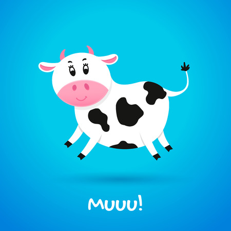 udders: Cartoon character cow