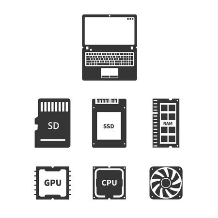 노트북 하드웨어 아이콘 스톡 콘텐츠 - 76693513