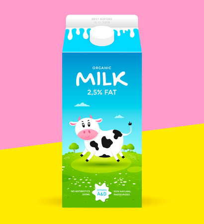 Milk package template Ilustração