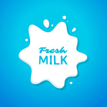 fresh milk: Fresh milk splash