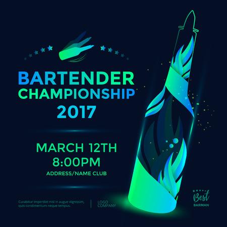 Bartender kampioenschap poster