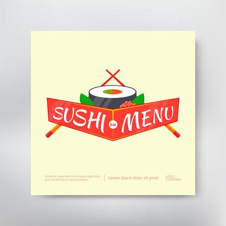 Couverture de menu sushi Banque d'images - 80092461