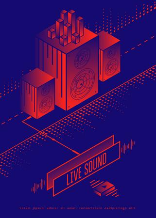 Live Poster van de Concert van de Muziek