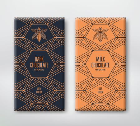 현실적인 벡터 세로 초콜릿 배너 설정